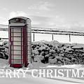 Telephone Box Snow - Merry Christmas II by Helen Northcott