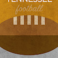 Tennessee Football Minimalist Retro Sports Poster Series 004 by Design Turnpike