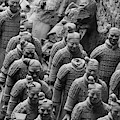 Terra Cotta Warriors In Black And White, Xian, China by Karen Foley