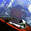 Tesla Roadster, Starman, Planet Earth Outer Space Image by Bill Swartwout Photography