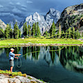Grand Teton National Park Mountain Lake Fishing by Christopher Arndt