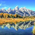 Grand Teton National Park Mountain Reflections by Christopher Arndt