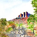 Texas Big Bend Casa Grande Peak by Carlin Blahnik CarlinArtWatercolor