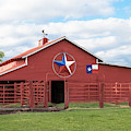 Texas Red Barn by Robert Bellomy