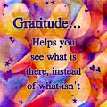 Text Art Gratitude by Laurie Cairone