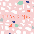 Thank You Modern Confetti- Art By Linda Woods by Linda Woods