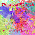 Thank You So Much Hibiscus Abstract by Kay Brewer