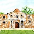 The Alamo Mission Texas by Carlin Blahnik CarlinArtWatercolor
