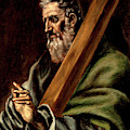 The Apostle St  Andrew  by El Greco  school of