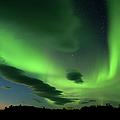 The Aurora Borealis Paints The  Night by Subtik