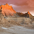 The Badlands With Another Sunrise by Jim Thompson