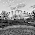 The Baseball Field Black And White by Paul Ward