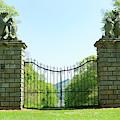 The Bear Gates At Traquair by Victor Lord Denovan