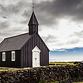 The Black Church Of Budir, Iceland by Lyl Dil Creations