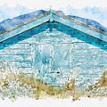 The Blue Beach Hut by John Edwards