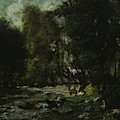 The Brook Of Les Puits-noir by Gustave Courbet