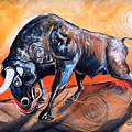 The Bull, Gerit Estque In Curant by J Vincent Scarpace