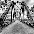 The Carpenters Bluff Bridge Black And White by JC Findley