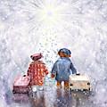 The Christmas Heathrow Bears by Miki De Goodaboom