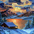 The Christmas Morning Cabin by David Lloyd Glover