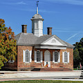 The Colonial Williamsburg Courthouse by Lois Bryan