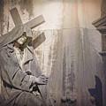 The Crosses We Bear Prazeres Historic Cemetery Lisbon Portugal by Carol Japp