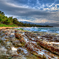 The Curve North Shore Lava Rocks Oahu Hawaii Collection Art  by Reid Callaway