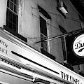 The Diner At Night Noir New York City by John Rizzuto