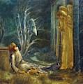 The Dream Of Lancelot Study by BurneJones Edward