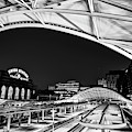 The Eye Of Denver Union Station At Dawn - Monochrome Edition by Gregory Ballos