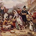 The First Thanksgiving 1621 by Jean Leon Gerome Ferris