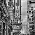 The Fox Theatre Christmas B W Midtown Atlanta Georgia Art by Reid Callaway