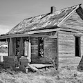 The Ghost Town Of Cuervo Black And White by JC Findley