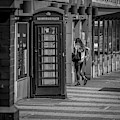 The Girl And The Telephone Box by Nigel Dudson