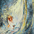 The Girl Under The Waterfall by Miki De Goodaboom