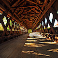 The Henniker Covered Bridge Henniker Nh New Hampshire In Autumn Inside by Toby McGuire