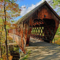 The Henniker Covered Bridge Henniker Nh New Hampshire In Autumn by Toby McGuire