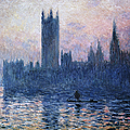 The Houses Of Parliament At Sunset By by Superstock