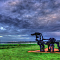 The Iron Horse Sunrise Clouds U G A Iron Horse Farm Landscape Art by Reid Callaway