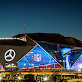 The Jewel Of Atlanta Mercedes- Benz Stadium Super Bowl L111 Atlanta Night Art by Reid Callaway