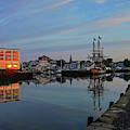 The Kalmar Nyckel Docked In Salem Harbor Sunrise Reflection by Toby McGuire