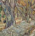 The Large Plane Trees, Or Road Menders At Saint Remy, 1889  by Vincent Van Gogh