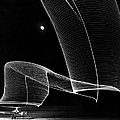 The Light Trail Of A Helicopter by Andreas Feininger