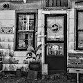 The Old Country Store Black And White by Paul Ward