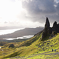 The Old Man Of Storr Towering Above by David C Tomlinson