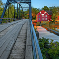 The Old Mill And Bridge Over War Eagle Creek - Northwest Arkansas by Gregory Ballos