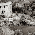The Old Mill In North Little Rock - Pugh's Mill 1832 Sepia by Gregory Ballos