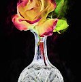 The Peach Rose Still Life by JC Findley