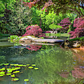 The Pond At The Garden by Debra and Dave Vanderlaan