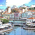 The Port Of Agios Niklaus On The Greek Island Of Crete - Dwp3776 by Dean Wittle